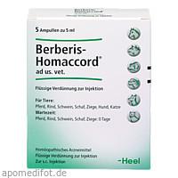 BERBERIS HOMACCORD ad us.vet.Ampullen, 5X5 ML, Biologische Heilmittel Heel GmbH