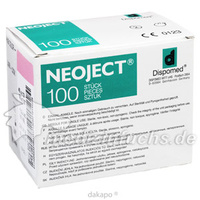 NEOJECT KAN BLUTENT 1.2X38, 100 ST, DISPOMED GmbH & Co. KG