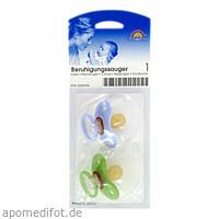 Kirschsauger Latex Gr.1 0-6 Monate flieder/grün, 2 ST, Büttner-Frank GmbH