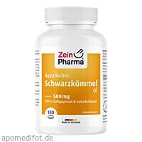 Ägyptisches Schwarzkümmelöl Kapseln 500mg, 180 ST, Zein Pharma - Germany GmbH