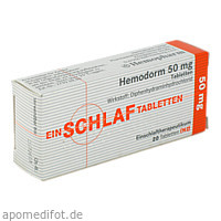 Hemodorm 50mg Einschlaf-Tabletten, 20 ST, Hemopharm GmbH