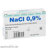 Kochsalzlösung 0.9% Mini-Plasco connect, 10X5 ML, B. Braun Melsungen AG