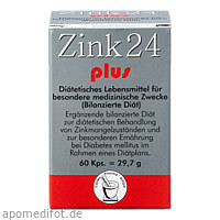 Zink 24 plus, 60 ST, Pharma Peter GmbH