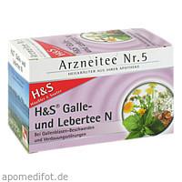 H&S Galle-und Lebertee N, 20X2.0 G, H&S Tee - Gesellschaft mbH & Co.
