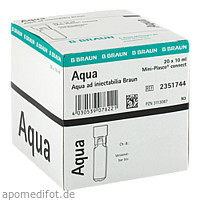 Aqua ad Injektabilia Mini-Plasco connect, 20X10 ML, B. Braun Melsungen AG