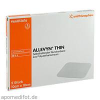 ALLEVYN THIN 10X10cm HYDROSELEKTIVE WUNDAUFLAGE, 5 ST, Smith & Nephew GmbH