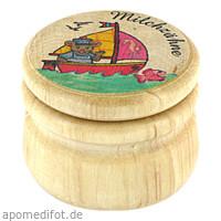 Milchzahndose Holz bunt mit Bild groß, 1 ST, Megadent Deflogrip Gerhard Reeg GmbH