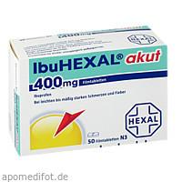 IbuHEXAL akut 400mg Filmtabletten, 50 ST, HEXAL AG