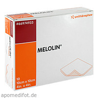 MELOLIN 10X10 WUNDAUFLAGE STERIL, 10 ST, Smith & Nephew GmbH