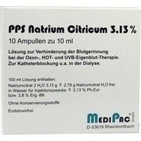 NATRIUMCITRAT 3.13%, 10X10 ML, Medipac GmbH