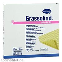 GRASSOLIND Salbenkompressen steril 7.5X10CM, 10 ST, Paul Hartmann AG