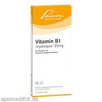 VITAMIN B 1 INJEKTOP 25MG, 10X1 ML, Pascoe pharmazeutische Präparate GmbH