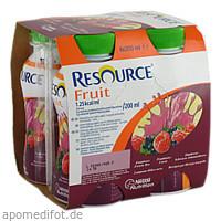 Resource Fruit Himbeere/Schwarze Johannisbeere, 4X200 ML, Nestle Health Science (Deutschland) GmbH