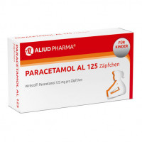 PARACETAMOL AL 125, 10 ST, Aliud Pharma GmbH