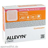 ALLEVYN Ag Gentle Border 7.5x7.5cm, 10 ST, Smith & Nephew GmbH