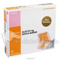 ALLEVYN Ag Gentle Border 12.5x12.5cm, 10 ST, Smith & Nephew GmbH