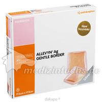 ALLEVYN Ag Gentle Border 17.5x17.5cm, 10 ST, Smith & Nephew GmbH