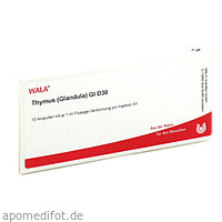 THYMUS (GLANDULA) GL D30, 10X1 ML, Wala Heilmittel GmbH