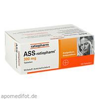 ASS-ratiopharm 300 mg, 100 ST, ratiopharm GmbH