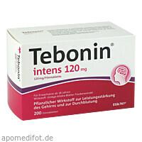 Tebonin intens 120mg, 200 ST, Dr.Willmar Schwabe GmbH & Co. KG