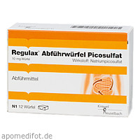 Regulax Abführwürfel Picosulfat, 12 ST, Hermes Arzneimittel GmbH