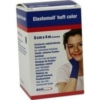 Elastomull haft 4mx8cm color blau, 1 ST, Bsn Medical GmbH