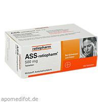 ASS-ratiopharm 500mg, 100 ST, ratiopharm GmbH