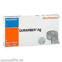 DURAFIBER Ag 4x10 cm Verband, 5 ST, Smith & Nephew GmbH