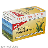 H&S SPITZWEGERICHKRAUT, 20X1.5 G, H&S Tee - Gesellschaft mbH & Co.