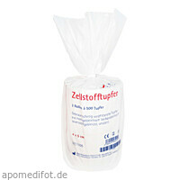ROGG ZELLSTOFF TUPFER 4X5, 2X500 ST, Rogg Verbandstoffe GmbH & Co. KG