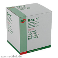 Gazin Kompresse 5x5cm 8fach steril, 25X2 ST, Lohmann & Rauscher GmbH & Co. KG