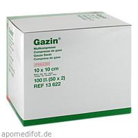 Gazin Kompresse 10x10cm 8fach steril, 50X2 ST, Lohmann & Rauscher GmbH & Co. KG