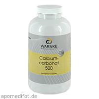 CALCIUMCARBONAT 500, 500 ST, Warnke Vitalstoffe GmbH
