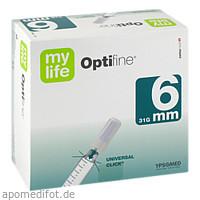 OPTIFINE 6 Kanuelen 0.25x6mm, 100 ST, 1001 Artikel Medical GmbH