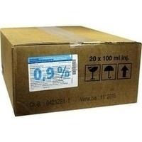 Isotonische NaCl 0.9% DELTAMEDICA Glasinj., 20X100 ML, DELTAMEDICA GmbH
