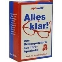 Brillenputztuch ALLES KLAR, 10 ST, Abc Apotheken-Bedarfs-Contor GmbH