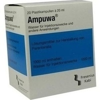 AMPUWA PLASTIKAMP, 20X20 ML, Fresenius Kabi Deutschland GmbH