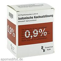 KOCHSALZ 0.9% ISOTON PL, 20X20 ML, Fresenius Kabi Deutschland GmbH
