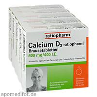 Calcium D3-ratiopharm Brausetabletten, 100 ST, ratiopharm GmbH
