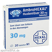 AMBROHEXAL Hustenlöser 30 mg Tabletten, 20 ST, Hexal AG