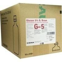 Glucose 5% B.Braun Ecoflac Plus Einzelflasche, 10X250 ML, B. Braun Melsungen AG