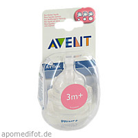 Philips AVENT 2 x Airflex Variable Sauger, 2 ST, Philips GmbH