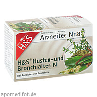 H&S Husten- und Bronchialtee N, 20X2.0 G, H&S Tee - Gesellschaft mbH & Co.