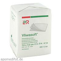 Vliwasoft Vlieskompresse unsteril 7.5x7.5cm, 100 ST, Lohmann & Rauscher GmbH & Co. KG