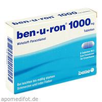 ben-u-ron 1000mg Tabletten, 9 ST, Bene Arzneimittel GmbH