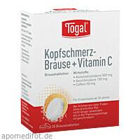 TOGAL KOPFSCHM BRAUSE+VIT, 20 ST, Kyberg Pharma Vertriebs GmbH