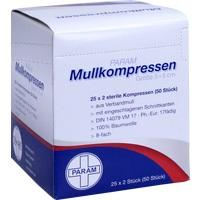 MULLKOMPRESSEN STERIL 5X5 8F, 25X2 ST, Param GmbH