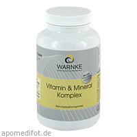 Vitamin & Mineral Komplex, 250 ST, Warnke Vitalstoffe GmbH