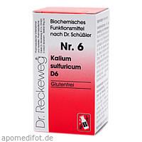 Biochemie 6 Kalium sulfuricum D6, 200 ST, Dr.Reckeweg & Co. GmbH