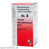 Biochemie 3 Ferrum phosphoricum D12, 200 ST, Dr.Reckeweg & Co. GmbH